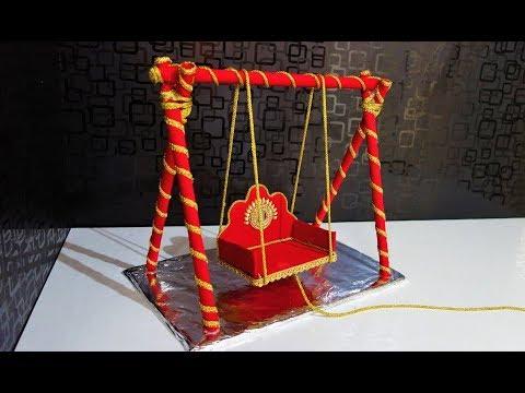 How to make jhula or palki for lord krishna |Krishna Jhula | Laddu gopal jhula janmashtami