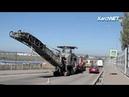На эстакаде в Керчи готовятся укладывать последний слой асфальта образовалась большая пробка