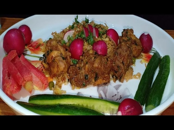 CHICKEN WITH RICE SALAD *NO TALKING* ASMR EATING MUKBANG EATING SHOW ASMR CHICKEN BIRYANI FASTFOOD