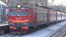 Электропоезд ЭР2Т-7215 сообщением Кубинка 1 - Москва Белорусская, станция Рабочий Посёлок