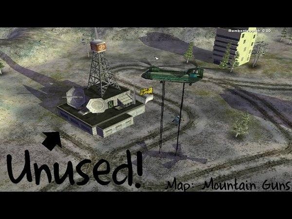 Command Conquer Zero Hour Unused Stuff - Mountain Guns (Map)