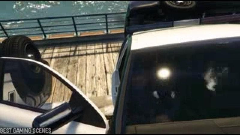 Прикольные моменты из GTA 5