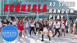 K-POP IN PUBLIC 2X Speed Random Play Dance Challenge at KCON18LA