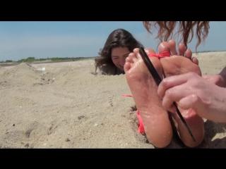Beach buried feet tickling 4 [HD]