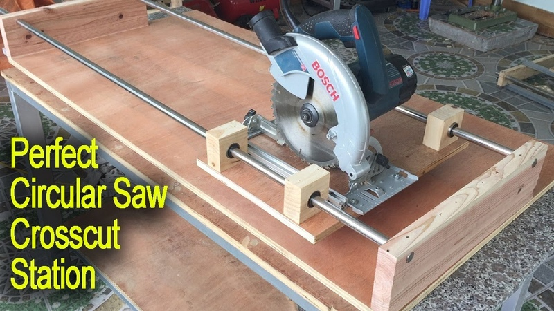 Amazing Perfect Circular Saw Cross Cutting Station Safely and Quickly and Accurately