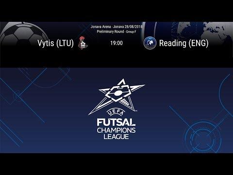 LIVE - Vytis (LTU) v Reading (ENG) - Preliminary round - Group F - Futsal Champions League