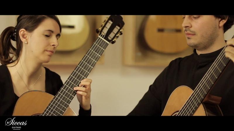 Duo Lanini Festa plays Prelude Fugue in E by Castelnuovo Tedesco on 2018 Espinosa Baarslag
