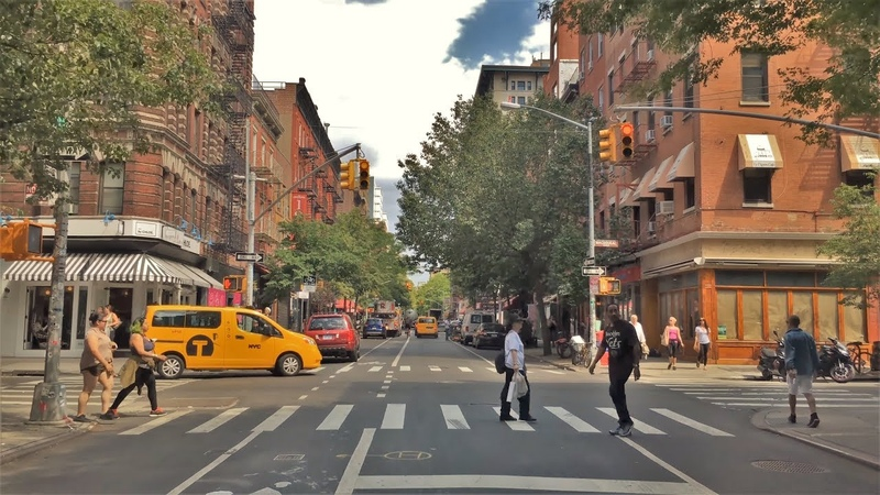 Driving Downtown - Greenwich Village 4K - NYC USA