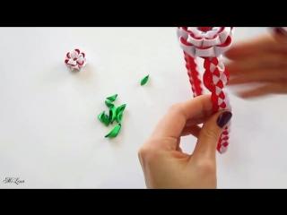 ОБОДОК КАНЗАШИ, МК - DIY Kanzashi Headband (2)