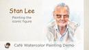 painting stan lee