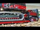 BIG RC TRUCK EXCAVATOR CATERPILLAR TRANSPORT! special video cut! R/C mercedes truck ACTION!