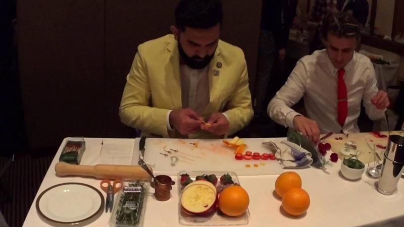 IBA tokyo 2016 world cocktail championship - dula lorenzohewa from australia (garnish preparation)