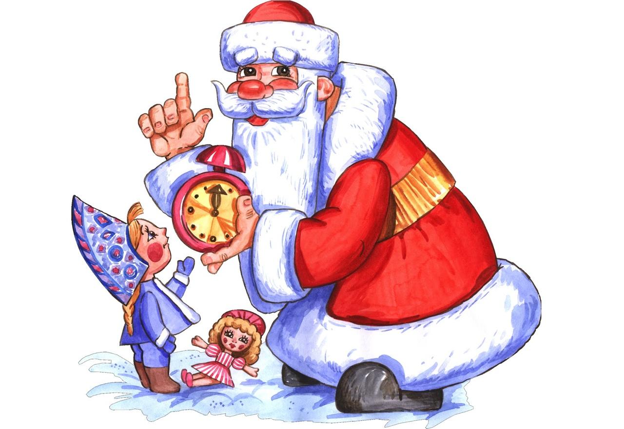 Дед мороз нарисованный картинки из мультиков, воде картинки
