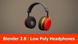 Blender 2.8 Low Poly Modeling Headphones
