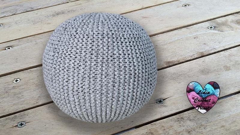 Concours! Pouf Tricot design pas à pas Lidia Crochet Tricot