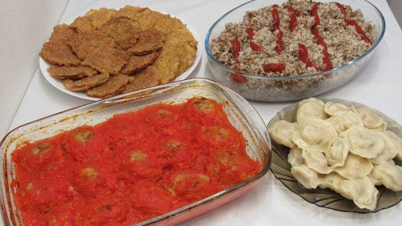 Готовлю 4 Блюда из 1кг ФАРША или что приготовить из фарша быстро и вкусно Выпуск 2