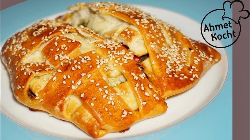 Арабские дрожжевые пироги с говяжьим фаршем, сыром, перцем Arabische Hackfleischtaschen mit Käse | Ahmet Kocht | arabisch kochen | Folge 297