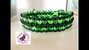 Wide solomon hearts pattern paracord dog collar - 3 colours (adjustable)