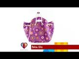Bolsa de tecido Eliz. DIY. Fabric bag. Make a fabric bag. Fabric bag tutorial. Fabric bags