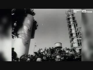 Лето 1963 года. тожественный митинг по случаю приемки в эксплуатацию первой очереди полоцкого нпз.