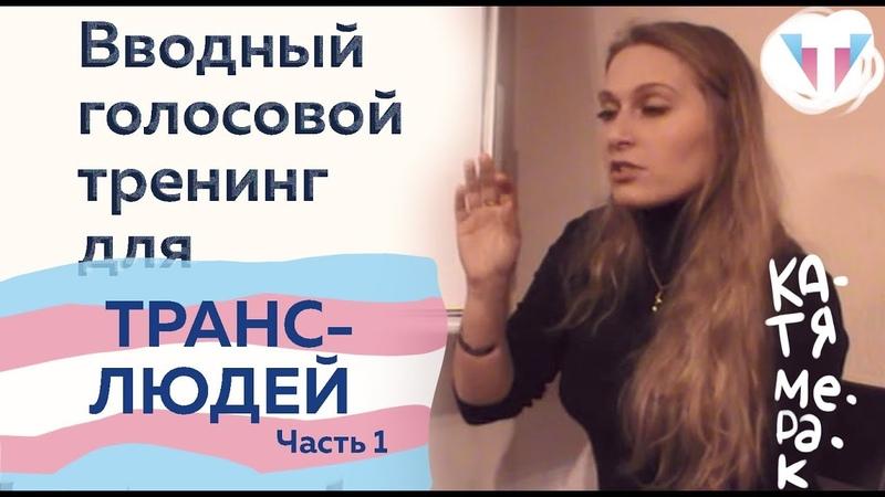 Голосовой тренинг для трансгендерных людей с Катей Мерак - Вводный! - Часть 1