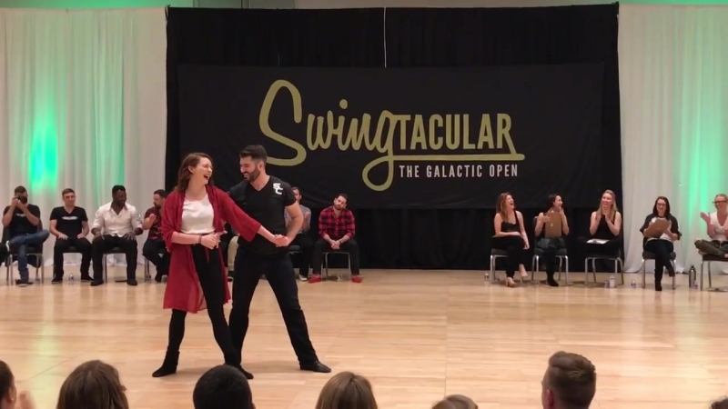 Swingtacular Invitational JnJ 2017 Ben Morris and Alyssa Glanville 2nd Place
