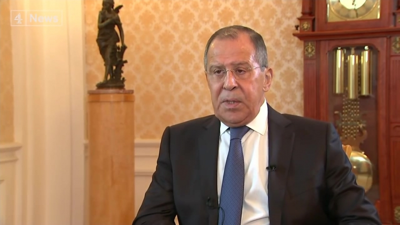 Exclusive - Sergey Lavrov Russias Foreign Minister on Skripals Trump kompromat claims and OPCW