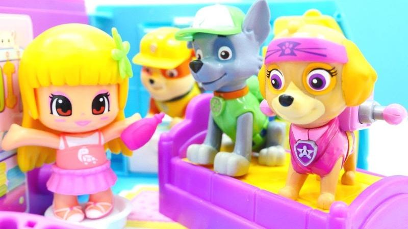 Patrulla Canina en cafetería de muñecas LOL. Vídeo para niños.