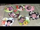 Детские фотографии на гипсовых сердечках ХоббиМаркет