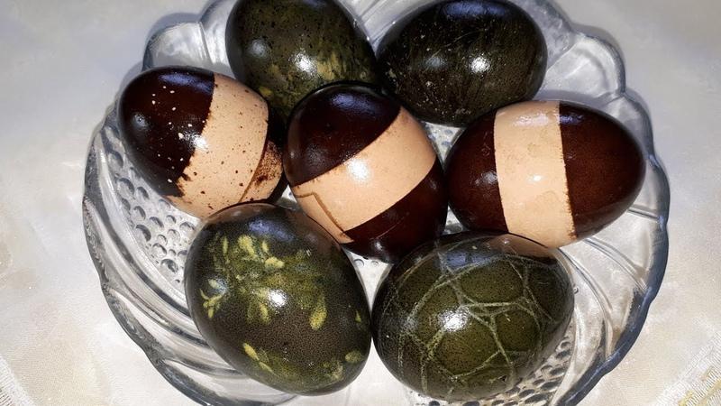 Как покрасить ЯЙЦА НА ПАСХУ натуральными ингредиентами Оригинальный способ покраски яиц