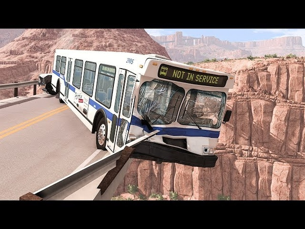 Collapsing Bridge Pileup Car Crashes 1 - BeamNG DRIVE | SmashChan