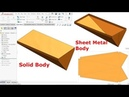 Solidworks sheet metal Tutorial   Convert Solid Body into Sheet metal Body