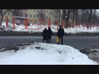 Издевательство над жителями наукограда_ Переход через улицу Циолковского в Корол