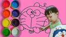 Doraemon Tongue Out | Colorear y dibujar para niños