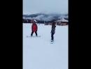 Обучение на сноуборде Насти РозаХутор 2018