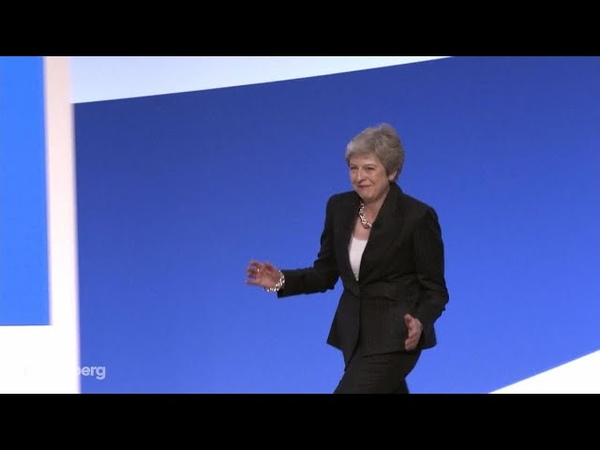 Theresa May Jigs at Tory Conference to Abba's `Dancing Queen'