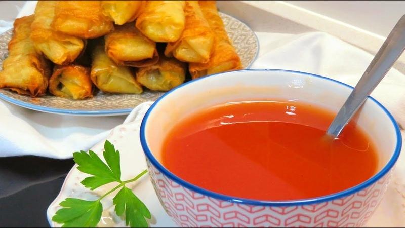Salsa agridulce china para rollitos de primavera. ¡No te pierdas el final del vídeo!