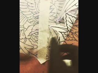 Old School - Орел (перевод эскиза на кожу)