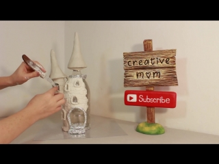 DIY Fairy Castle Lamp Using a Coke Plastic Bottle
