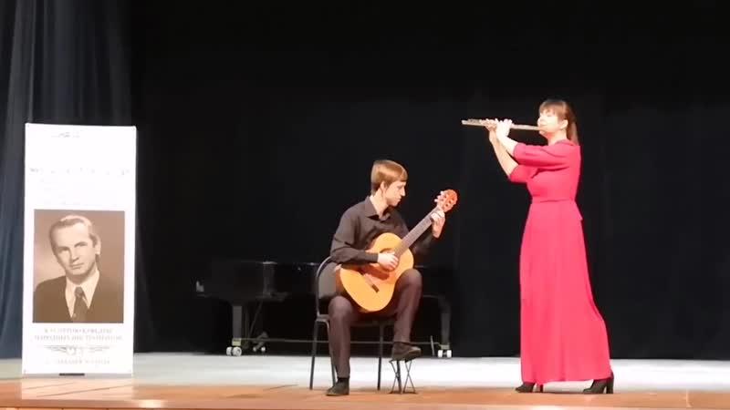 Инструментальный дуэт L'euphorie - Вилла-Лобос - Бразильская бахиана №5; М. Д. Пухоль - Сюита Буэнос Айрес ч.1 Помпея
