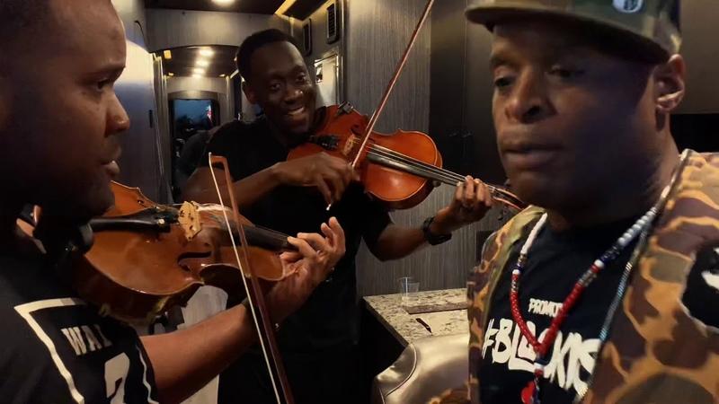 Black Violin x Kenny Muhammad Tour Bus freestyle