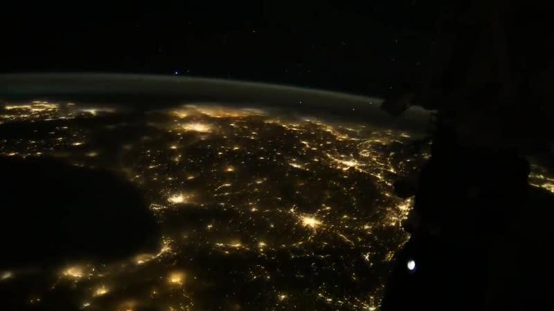 Космический таймлапс от космонавта Сергея Рязанского
