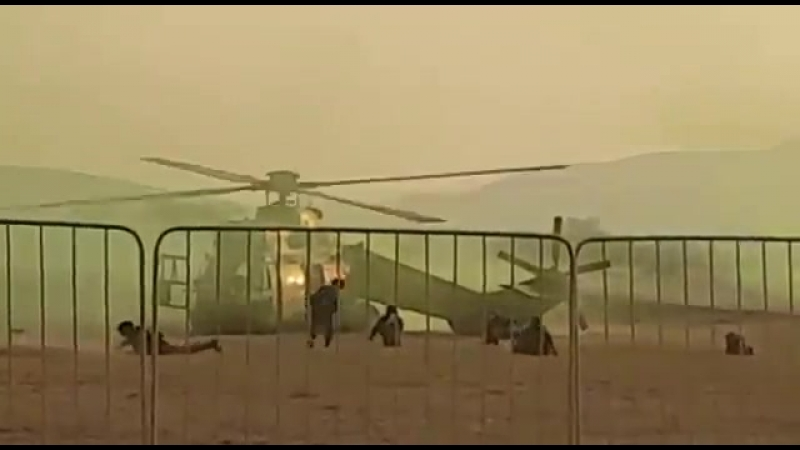 Жесткая посадка ЮАРовского вертолёта Oryx.