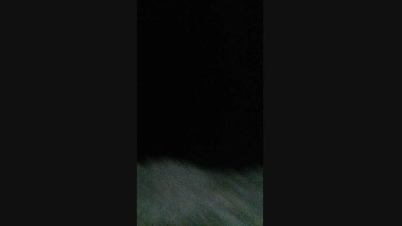 Пантонный мост ночью