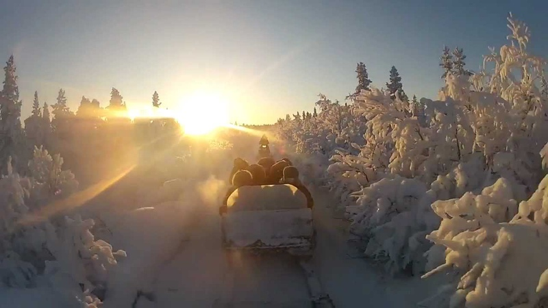 Dog-sled ride and Snowmobile tour in Kiruna Sweden (Winter 2012)