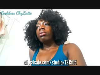 ChayLatte - Unaware Masturbating Ebony Giantess Chy Forces you to Be Her Sex Toy