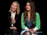 Sandra Bullock and Cate Blanchett talk Ocean's 8 and faux media reports