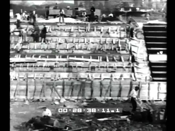 Roma La grande piscina in costruzione presso il Foro Mussolini