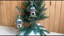Jana Melas Pullmannová Vtáčia búdka na vianočný stromček
