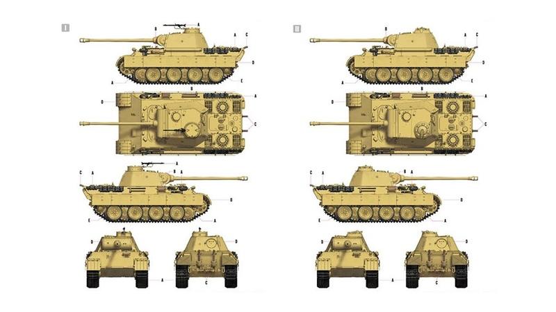 Немецкий танк Sd.Kfz.171 Пантера с покрытием zimmerit в масштабе 1:35 от компании Hobby Boss